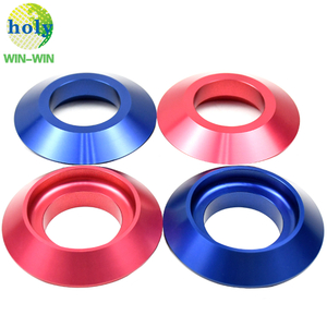 Mass Production CNC Turning Parts Colorful Aluminum Wheel Nut Washer