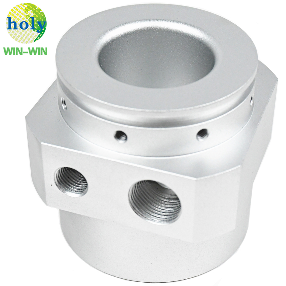 Batch Production Aluminum Milling Service Connector Block CNC Turning Parts