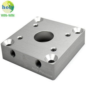 Customized Fabrication CNC Machining Aluminum Cooling Block With Clear Anodizing