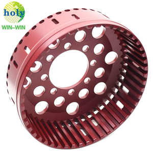Red Hard-Anodizing Aluminum7075T6 CNC Machining Motorcycle Tool 48T Clutch Basket